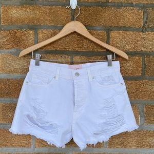 revice denim destroyed shorts 26